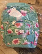 Pottery Barn Kids Aqua Floral Palm Small Backpack No Mono Flower New Mackenzie