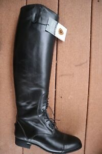 NWT Black Leather ARIAT Crowne Tall Field Boots  9
