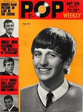 Pop Weekly Magazine 23 May 1964   Ringo Starr   The Beatles  Hollies  Brenda Lee