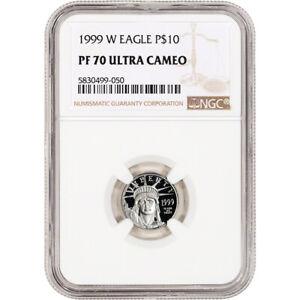 1999 W American Platinum Eagle Proof 1/10 oz $10 - NGC PF70 UCAM