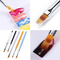 UV Gel Gradient Ombre Painting Pen Drawing Brush Wooden Handle Nail Art Tool