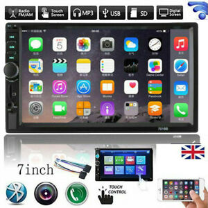 "7"" Inch Double 2 DIN Bluetooth Car Radio Stereo FM AUX MP5 Player Touch Screen"
