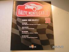 ** Altaya Rallye Monte-Carlo n°18 SIMCA 1000 Rallye 2 / Porsche / Rauno Aaltonen