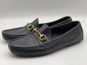 VTG Gucci Bridlebit Men's Leather Driver Moccasin Loafer 11 1/2 Size 1101344