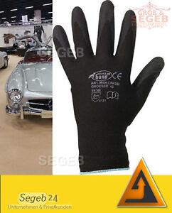 1-12 Gr Arbeitshandschuhe PU Polyurethan Montage Lager Mechaniker Handschuhe