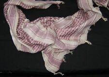 SHEMAGH ARAB SCARF KEFFIYEH FASHION SCARF 100% Cotton Tan & Brown