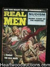 Real Men Dec 1957 L.A. Gang Pachuros,Mau Maus Assault Cover