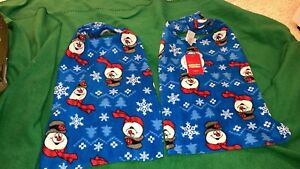 Jammies for Families Pet Jammies, Holiday with Snowmen, Large