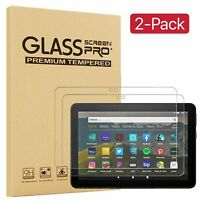 "2PCS Tempered Glass Screen Protector For Amazon Kindle Fire HD 7"" 8"" 10"" Tablet"