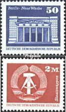 DDR 2549w-2550w (complète edition) blanc papier neuf avec gomme originale 1989 S