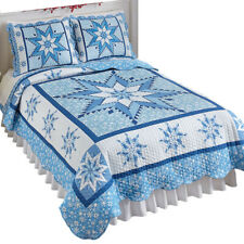 Snowflake Winter Holiday Reversible Patchwork Quilt