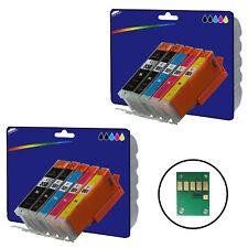 2 Sets Compatible Impresora Cartuchos De Tinta Para Canon Pixma ip7250 Impresora [ 550/1 ]