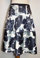 New The Limited Skirt Sz 2 Floral A-Line Thick Silky Pleated Front Pockets