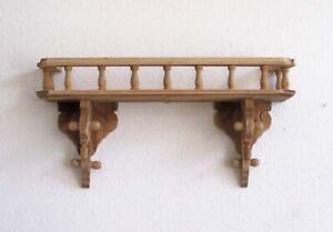 Rustikale Wandkonsole Board Wandregal Holz Naturton Antik-Stil Konsole Regal