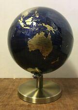 27cm Dark Blue Gold World Globe Vintage Rotating Atlas Office Ornament Home