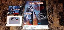 Nosferatu - Super Nintendo SNES 💥 Rare! Authentic! 🔥 With Poster!