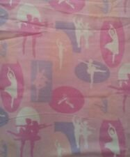 Pink Ballet Cotton Flannel Fabric By the Half-Yard