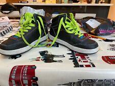 Heelys Sidewalk Sports hi-top black green roller trainers size UK 4 skate shoes