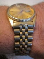 VINTAGE SEIKO DAY DATE WATCH - JUBILEE BAND - RUNS GREAT - TUB SC-6