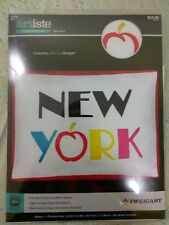 """Artiste Embroidery Kit New York 10.52"""" x 6.83"""" Easy To Read Chart & Legend"""