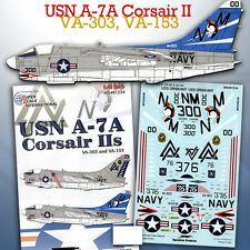 USN A-7 Corsair II: VA-303, VA-153 (1/48 decals, Superscale 481234)