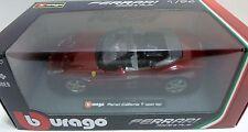 BBurago - 18-26011 - Ferrari California T 1:24 Open Top Die Cast Car Burgundy
