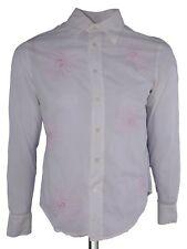 and camicia uomo bianco manica lunga cotone taglia s small