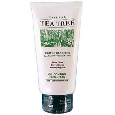 Tea Tree Natural Oil Control Facial Foam Cleanser 140ml