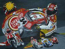 Kevin CAL SUZUKI RGV 500GP MOTO MOTOCICLISMO Arte Pittura Stampa