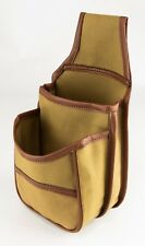 UPLAND GAME CLAY RANGE 50 SHOTGUN SHELL HULL BELT FITTING CANVAS AMMO POUCH