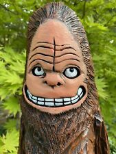 BIG FOOT Chainsaw Carving SASQUATCH Carvings Black Walnut Wood ONE of a KIND!