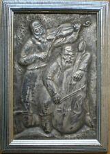 MERZER Hand-Hammered SILVER Made FIDDLER & BAND Israel JEWISH Art JUDAICA Safed