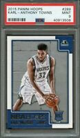 2015-16 panini hoops #289 KARL-ANTHONY TOWNS timberwolves rookie card PSA 9