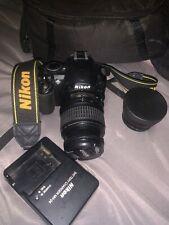 Nikon D D3100 14.2MP Digital SLR Camera - Black (Kit w/ AF-S DX VR 55-200mm)