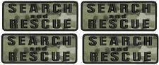 4 Search and Rescue embroidery patches 2x5  hook on back multicam