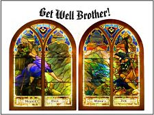 """Double Stained Glass"" - Masonic  - 16 Beautiful Greeting/Note Cards"