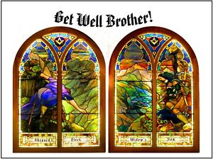 """Double Stained Glass"" - Masonic  - 10 Beautiful Greeting/Note Cards"