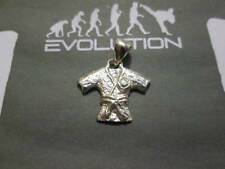 Judo Karate kimono jacket pendant in sterling silver 925- artisan product