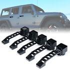 Xprite 5pcs Exterior Door Handles Kit Black Aluminum for 07-18 Jeep Wrangler JK