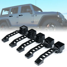 Xprite 5pcs Black Aluminum Exterior Door Handles Set for 07-18 Jeep Wrangler JK