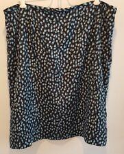 NWOT  Liz Claiborne Women's  Blk/Blue Pattern Lined Skirt Size 16 Petite