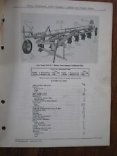 John Deere F245H F245Ah Plow Parts Catalog Manual