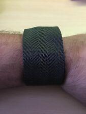 Uhren Armband Uhrenarmband Bw BUNDeswehr oliv cordura aus Sicherheitsgurt