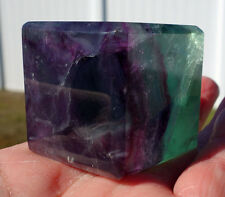 Fluorite Crystal CUBE Rare Find POLISHED Square Sacred Geometry Flourite