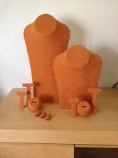 Used JEWELLERY DISPLAY TAQUERIA PARA JOYERIA Orange color Naranja  Long necklace