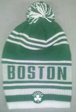 Boston Celtics Knit Beanie Toque Skull Cap Winter Hat NEW NBA Long Tall Pom