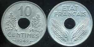 10 centimes 1942 grand  module   ( TTB )