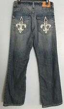 Marc Ecko Men's Jeans 30 Waist Bootcut Distressed Designed Pockets Inseam 31