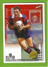 2001SELECT NRL IMPACT SERIES-CLUB PLAYER OF THE YEAR-CP6-DAVID FAIRLEIGH-KNIGHTS