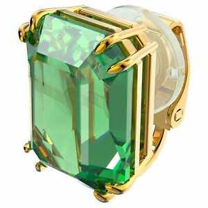Swarovski Crystal Millenia Clip Earring, Single, Green, Gold-Tone Plated 5598358